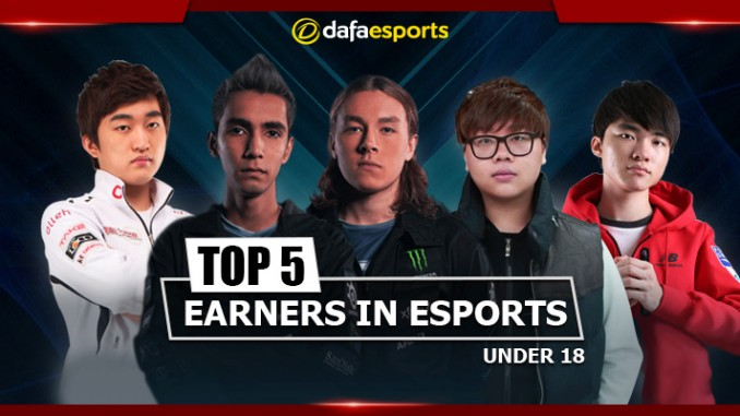 Top 5 under 18 eSports earners