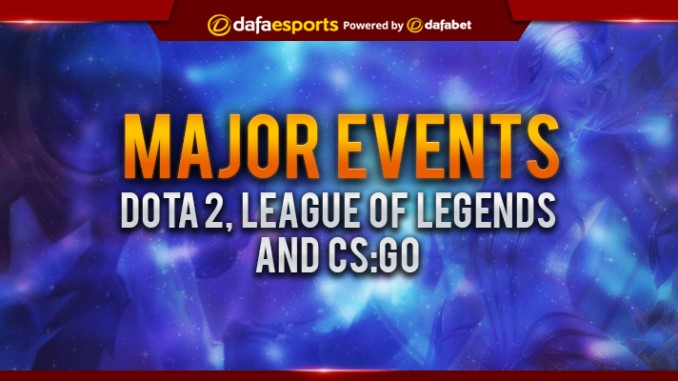 Mark your calendars! Upcoming Major Esport Events
